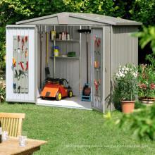 Estructura de acero prefabricada Casa de cobertizo de jardín