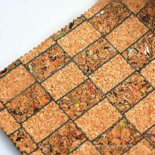 Tecido de couro de cortiça natural artificial para quadro de foto