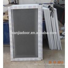 janela de pvc com mosquiteiro de aço inoxidável fixo