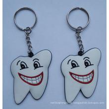 Slicone Schlüsselanhänger, Zahnform Schlüsselanhänger (GZHY-KA-011)