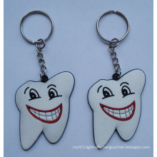Slicone Key Ring, Tooth Shape Keychain (GZHY-KA-011)