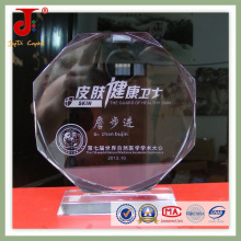 Sandblast Logo Glass Trophy Jd-ct-427
