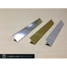 T Piso de aluminio de transición Tile bordillo trim en tres colores
