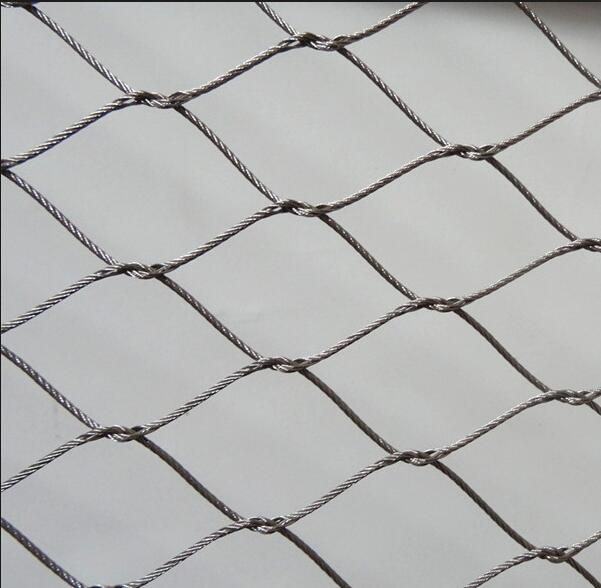 Flexible Stainless Steel Cable Woven Knotted Mesh