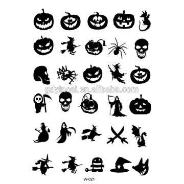 Хэллоуин 2017! Маленькие Татуировки Дети Женщины Временные Водонепроницаемый Wristwatch Стороны Тела