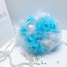 Nupcial Colorido al por mayor artificial color hermoso ramo de boda