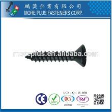 Hecho en Taiwán DIN7983 Acero al carbono Galvanizado Phillips Drive Oval Cabeza Auto Tachonado Tornillos