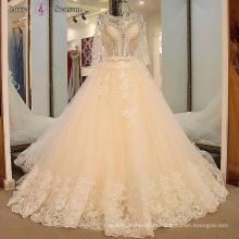 LS16544 2017 designer champanhe coloridas vestidos de noiva moda de alta qualidade sexy beading vestido de casamento vestido de noiva de noiva