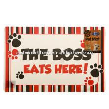 Estera de alimentación del perro, estera de alimentación del gato