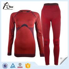 Underwear térmico feito sob encomenda do esporte de Johns Long das mulheres