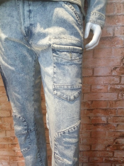 Beliebte Marketing High Standard Material Graue Jeans