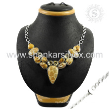 Luxurious multi gemstone necklace 925 sterling silver jewelry online silver jewelry wholesaler
