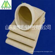Bolsa de filtro de membrana Ptfe Bolsa de filtro de fibra de aramida resistente a altas temperaturas