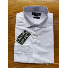 100% Cotton White Long-sleeve Men's Normal Shirts