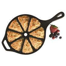 Wholesale Pre-seasoned Cast Iron Cornbread Wedge Pan