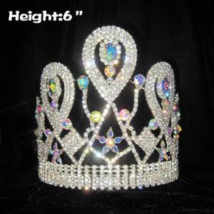 Coronas de cristal de 6 pulgadas con diamantes AB