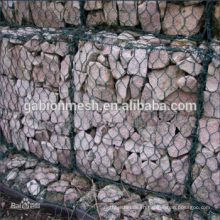 Low price steel wire mesh/pvc & galvanized gabion basket/gabion basket Alibaba china