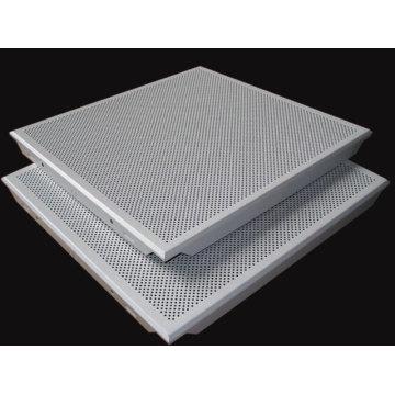 Azulejos acústicos perforados del techo falsos del aluminio