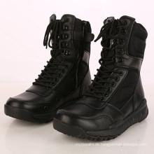 Heißer Verkauf Schwarzes Leder Militärkampf Stiefel Dschungel Taktische Stiefel