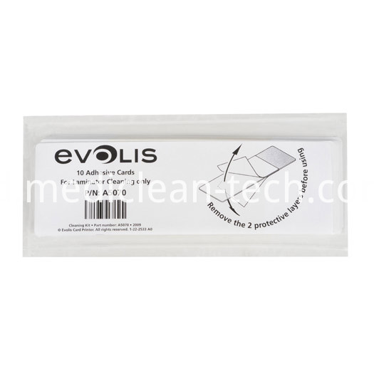 Evolis A5070 Adhesive Cleaning Cards for Laminator - Qty. 10