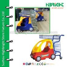 Carrinho de compras para crianças com assento de brinquedo
