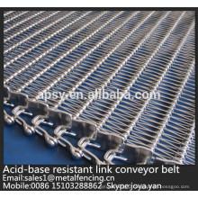 Courroie de maille de convoyeur de fil d'acier inoxydable résistant à la chaleur de surface plate de haute densité