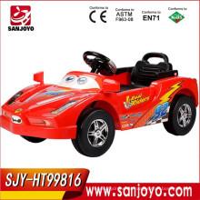 Los niños de gran tamaño popular montan en el coche de juguete teledirigido del coche 4CH con música y MP3 HT-99816