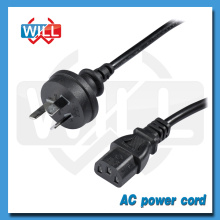 SAA Australia tv extension power cord with IEC13 plug