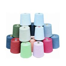 Filé par anneau 100% de polyester de la Vierge pour tricoter ou tisser
