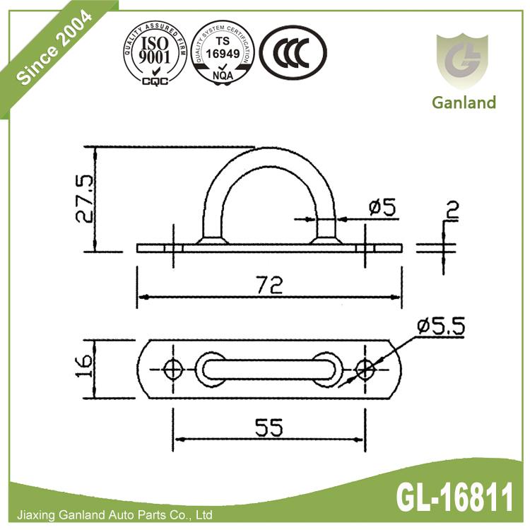 Boat Mooring Ring Rope GL-16811