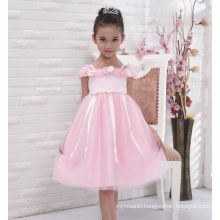 new design baby girls puffy dress/party dress/floral dress for wedding wear