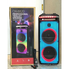 CH 8820 High Quality 8 Inch*2 Party Karaoke Dj High Quality Trolley  Karaoke Speaker