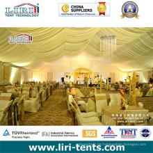 Futter und Vorhang Dekoration für Hochzeitsparty Event