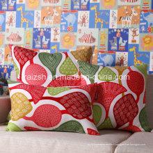 Toile de coton ultra-confortable imprimant l'oreiller pastoral de coussin de sofa de tissu