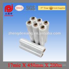 Película de estiramento do envoltório da pálete de LLDPE feita em China