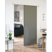 Modern Painted Surface Mount Sliding Flush Door Wall Mounted