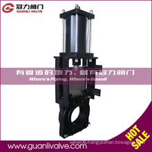 Black Pneumatic Slurry Knife Gate Valve