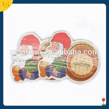 2014 factory promotion wooden christmas gifts fridge magnet