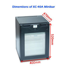 Single Door Commercial Hotel Mini Bar Refrigerator Electric For Home / Car