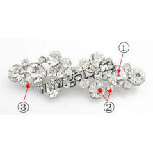 Gets.com zinc alloy custom letter rhinestone brooch pins