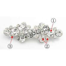 Gets.com liga de zinco alfabeto personalizado rhinestone broches