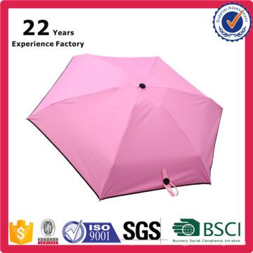 Promotional Hot Selling Five 5 folding Mini Pocket umbrella for Wholesale