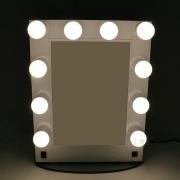 Aluminum hollywood mirror with light bulbs LED desktop wall-mounted mirror