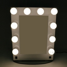 Aluminum hollywood mirror with light bulbs LED desktop wall-mounted mirror