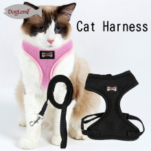 Mesh Pet Harness Cat Harness Set Cat Kitten Walking Leash and Harness