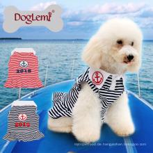 Neuer kundenspezifischer Anker-Streifen-Sommer-Frühlings-Haustier-Welpen kleidet Hundekleid