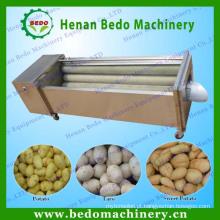 Máquina de descascamento elétrica industrial da batata doce & máquina de lavagem da casca da batata