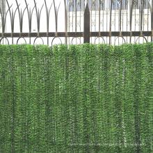 Künstlicher grüner Plastikzaun des dekorativen Gartens für Verkauf