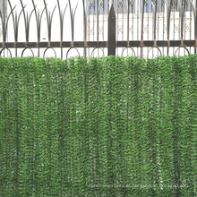Cerca verde artificial plástica decorativa do jardim para a venda