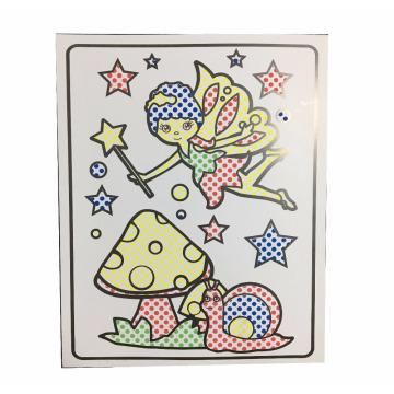 Kids watercolor dry dot coloring book